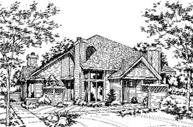 1-Bedroom, 648 Sq Ft Multi-Unit Home Plan - 146-2075 - Main Exterior