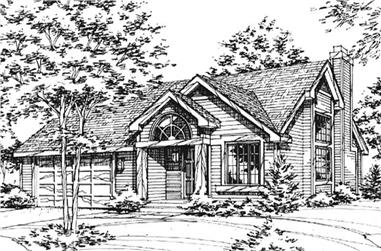 3-Bedroom, 2674 Sq Ft Country House Plan - 146-2076 - Front Exterior