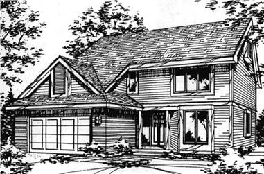 3-Bedroom, 2205 Sq Ft Country House Plan - 146-2077 - Front Exterior