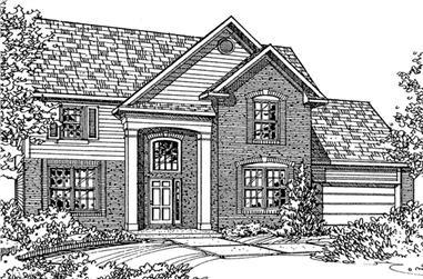 4-Bedroom, 2222 Sq Ft European House Plan - 146-2079 - Front Exterior