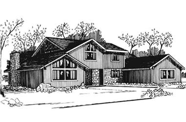 3-Bedroom, 4715 Sq Ft Colonial House Plan - 146-2080 - Front Exterior