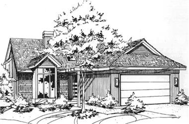 2-Bedroom, 1612 Sq Ft Contemporary House Plan - 146-2081 - Front Exterior
