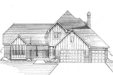 3-Bedroom, 2319 Sq Ft Tudor Home Plan - 146-2090 - Main Exterior