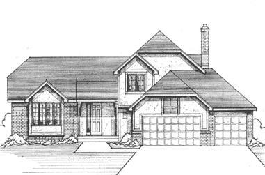 4-Bedroom, 2347 Sq Ft Craftsman House Plan - 146-2093 - Front Exterior
