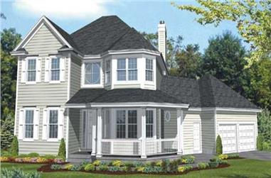 3-Bedroom, 2682 Sq Ft Country House Plan - 146-2098 - Front Exterior