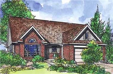 3-Bedroom, 1365 Sq Ft Craftsman Home Plan - 146-2100 - Main Exterior