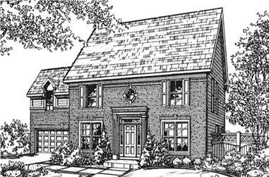 4-Bedroom, 2821 Sq Ft Cape Cod Home Plan - 146-2105 - Main Exterior
