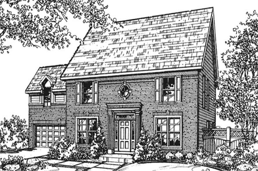 Main image for house plan # 21366