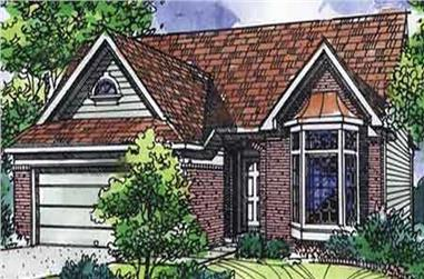 3-Bedroom, 1620 Sq Ft Ranch House Plan - 146-2106 - Front Exterior
