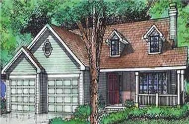 3-Bedroom, 1231 Sq Ft Country House Plan - 146-2114 - Front Exterior