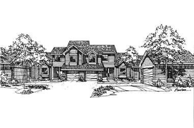1-Bedroom, 1011 Sq Ft Multi-Unit House Plan - 146-2115 - Front Exterior