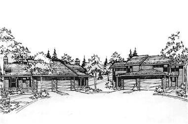 2-Bedroom, 1544 Sq Ft Per Unit Modern Duplex Plan - 146-2119 - Main Exterior