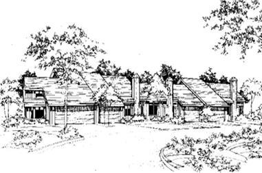 2-Bedroom, 882 Sq Ft Multi-Unit Home Plan - 146-2120 - Main Exterior