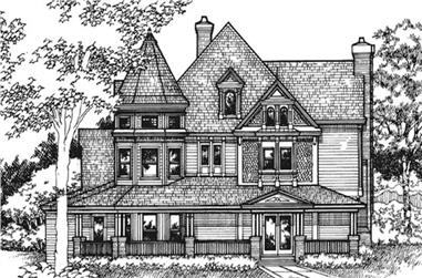 4-Bedroom, 4161 Sq Ft Country House Plan - 146-2122 - Front Exterior