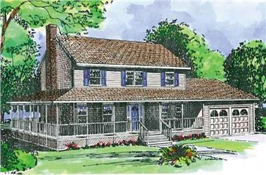 3-Bedroom, 1997 Sq Ft Farmhouse Home Plan - 146-2126 - Main Exterior