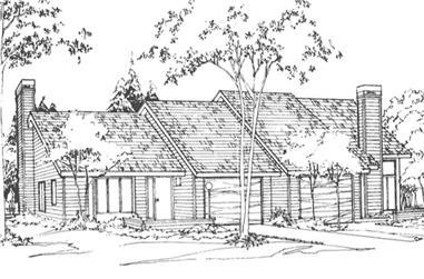 2-Bedroom, 1385 Sq Ft Multi-Unit Home Plan - 146-2128 - Main Exterior