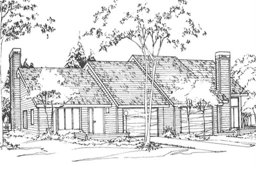 2-Bedroom, 1385 Sq Ft Multi-Unit Home Plan - 146-2128 - Main Exterior