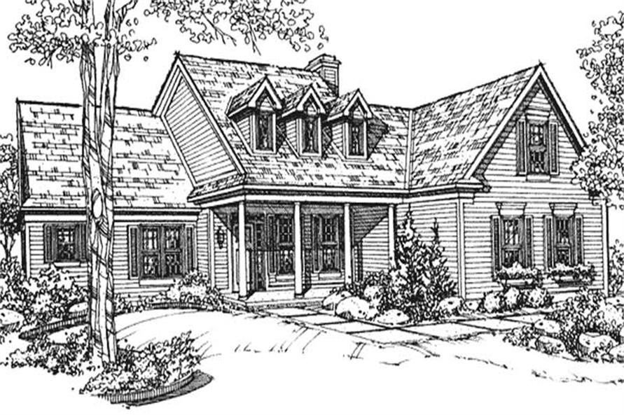 2-Bedroom, 2471 Sq Ft Country House Plan - 146-2129 - Front Exterior