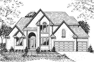4-Bedroom, 2899 Sq Ft Colonial House Plan - 146-2130 - Front Exterior