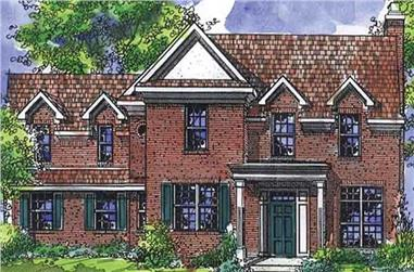 3-Bedroom, 1956 Sq Ft Colonial Home Plan - 146-2133 - Main Exterior