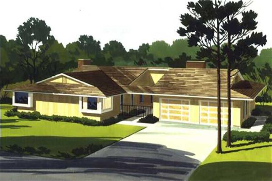 3-Bedroom, 1865 Sq Ft Modern House Plan - 146-2135 - Front Exterior