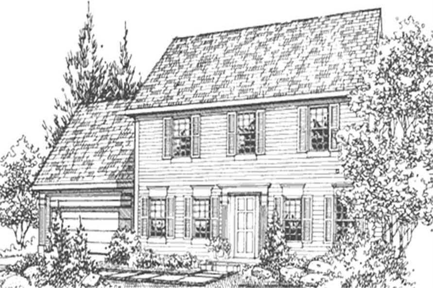 Home Plan Front Elevation of this 4-Bedroom,1945 Sq Ft Plan -146-2137