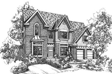 4-Bedroom, 2743 Sq Ft Colonial House Plan - 146-2139 - Front Exterior