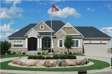 3-Bedroom, 3000 Sq Ft Country House Plan - 146-2143 - Front Exterior