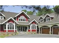 This is a color photo of these Craftsman Houseplans.