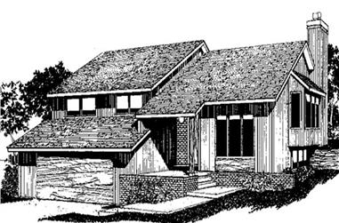 3-Bedroom, 2163 Sq Ft Country House Plan - 146-2146 - Front Exterior