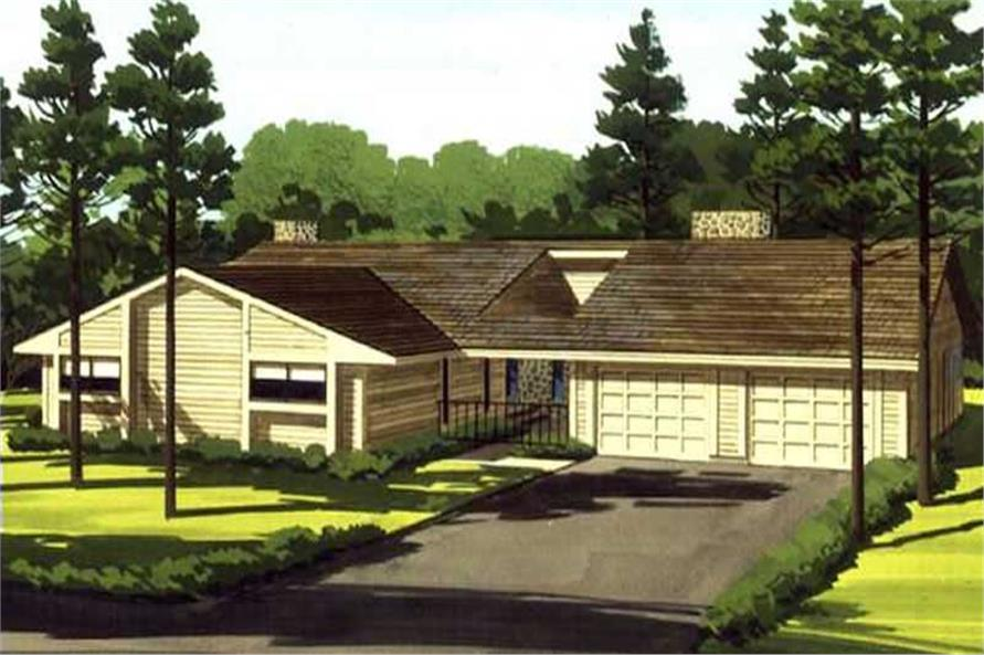 3-Bedroom, 1865 Sq Ft Modern House Plan - 146-2148 - Front Exterior