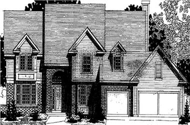 4-Bedroom, 3608 Sq Ft Colonial Home Plan - 146-2149 - Main Exterior