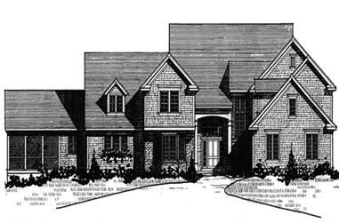 3-Bedroom, 4845 Sq Ft Craftsman Home Plan - 146-2151 - Main Exterior