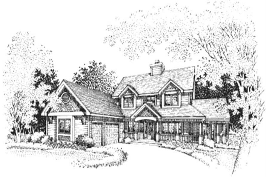 5-Bedroom, 3257 Sq Ft Country Home Plan - 146-2156 - Main Exterior