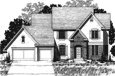 4-Bedroom, 3056 Sq Ft European House Plan - 146-2159 - Front Exterior