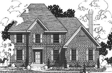 4-Bedroom, 2680 Sq Ft Colonial Home Plan - 146-2161 - Main Exterior