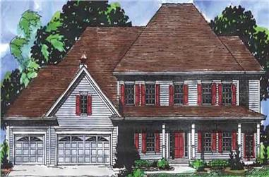 4-Bedroom, 3485 Sq Ft Country House Plan - 146-2165 - Front Exterior