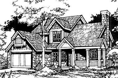 3-Bedroom, 2025 Sq Ft Country Home Plan - 146-2168 - Main Exterior