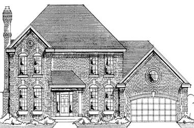 4-Bedroom, 2235 Sq Ft Colonial House Plan - 146-2169 - Front Exterior