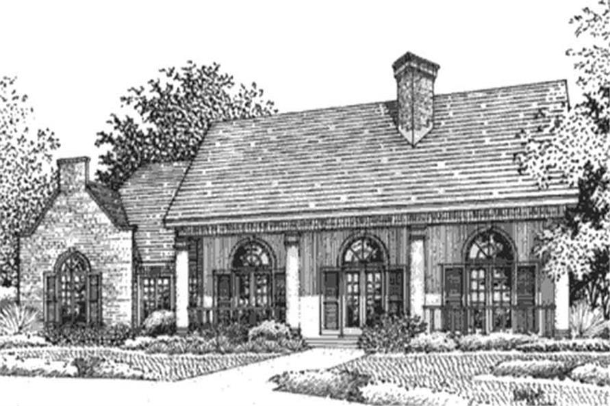 146-2173: Home Plan Front Elevation