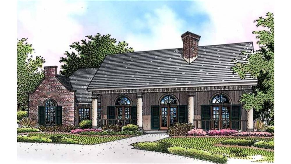 Front elevation of Country home (ThePlanCollection: House Plan #146-2173)