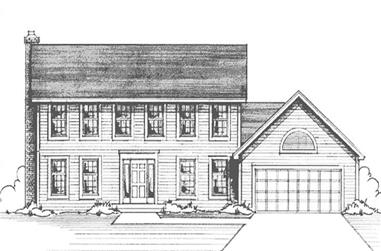 4-Bedroom, 3300 Sq Ft Colonial House Plan - 146-2176 - Front Exterior
