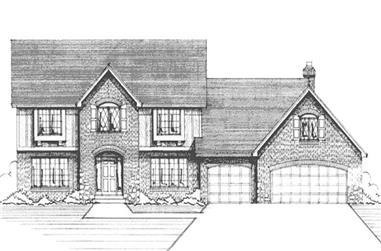 3-Bedroom, 2745 Sq Ft European Home Plan - 146-2182 - Main Exterior