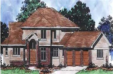 4-Bedroom, 3173 Sq Ft Colonial House Plan - 146-2186 - Front Exterior