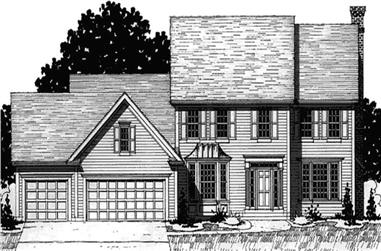 4-Bedroom, 2325 Sq Ft Colonial House Plan - 146-2191 - Front Exterior