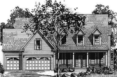 4-Bedroom, 2859 Sq Ft Colonial House Plan - 146-2192 - Front Exterior