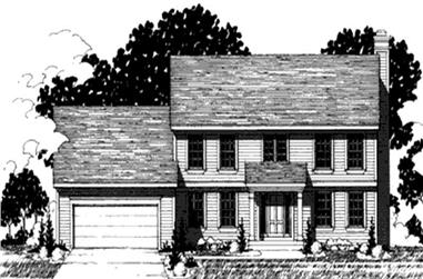 4-Bedroom, 2258 Sq Ft Colonial House Plan - 146-2196 - Front Exterior