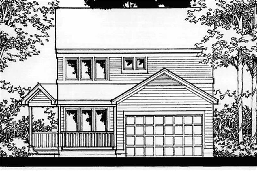 4-Bedroom, 1628 Sq Ft Country House Plan - 146-2197 - Front Exterior