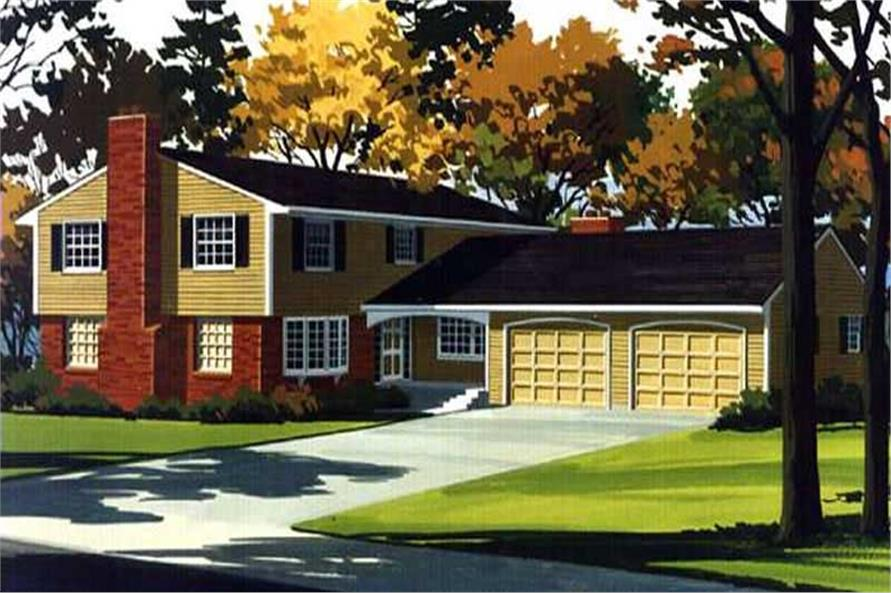 4-Bedroom, 2655 Sq Ft Colonial House Plan - 146-2198 - Front Exterior