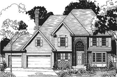 4-Bedroom, 2593 Sq Ft European House Plan - 146-2199 - Front Exterior